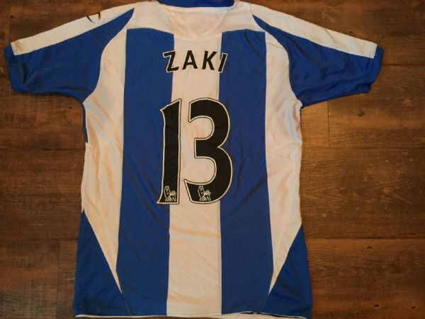 2008 2009 Wigan Athletic Zaki Football Shirt Top Jersey Childs age 13 14 Egypt